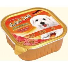 Edel Dog Консервы для собак Нежный паштет с уткой и овощами, 0.3кг. (10178)