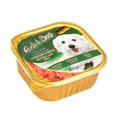 Edel Dog Консервы для собак Нежный паштет с индейкой и зайчатиной, 0.3кг. (10150)