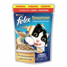 Felix Sensations соус говядина и томат 85гр. пауч (05333)