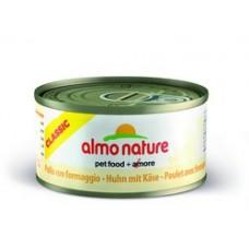 Almo Nature Adult консервы для кошек с Курицей и сыром 70гр. (01402)