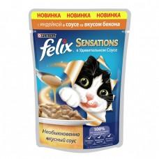 Felix Sensations соус индейка и бекон 85гр. пауч (05332)