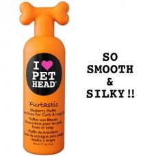 """Pet Head Крем-ополаскиватель черничный """"Пушистик"""" для длинной шерсти собак с овсянкой,экстрактами кактуса и календулы, без сульфатов и парабенов (FURTASTIC)  (50427)"""
