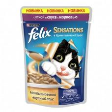 Felix Sensations соус утка и морковь 85гр. пауч (05334)