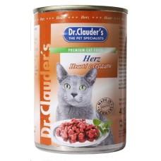 Dr. Clauder's консервы для кошек сердце 415 гр. (11474)