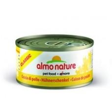 Almo Nature Classic консервы для кошек Аппетитные куриные бедрышки 140гр. (20882)