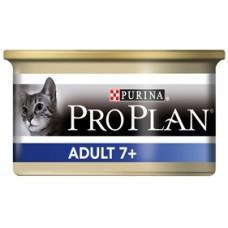 Pro Plan ADULT 7+ консервы для кошек старше 7 лет, мусс с тунцом, 85гр. (21325)