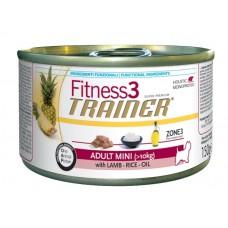 Trainer Fitness3 No Gluten Adult Mini консервы для собак мелких пород с Ягненком и рисом 150г