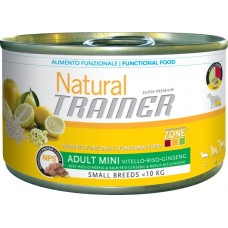 Trainer Natural Adult Mini консервы для собак мелких пород с Говядиной, рисом и женьшенем 150г (41136)