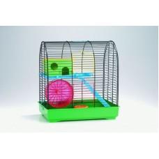 Beeztees Grim 2 Клетка для грызунов (комплект), черно-зеленая, 37*25*39см. (266409)