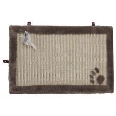 Beeztees Когтеточка-коврик с мышкой бежевая 55*35 см (405718)