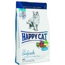Хэппи Кэт корм для взрослых кошек Морская рыба (01938)
