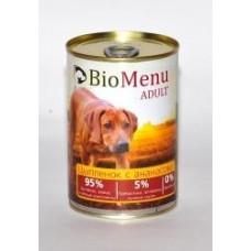 Био Меню консервы для собак Цыпленок с ананасом
