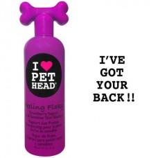 Pet Head Шампунь клубнично-йогуртовый для сухой и чувствительной кожи собак с юккой, ромашкой и шелком, без сульфатов и парабенов (FEELING FLAKY) (50425)