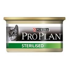 Pro Plan STERILIZED консервы для стерилизованных кошек, паштет лосось/тунец, 85гр. (21327)