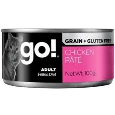 GO! NATURAL Holistic Консервы беззерновые с курицей для кошек (GO! Grain Free Chicken Pate CF)