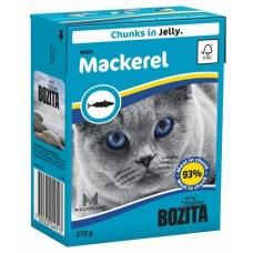 Bozita Feline Mackerel Кусочки в желе со скумбрией, 370 гр. (P22709)