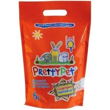 Pretty Pet Древесный наполнитель с морковными чипсами для грызунов и птиц 6л (P33001)