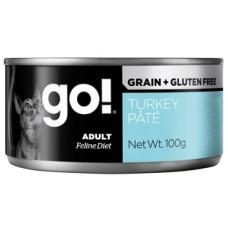 GO! NATURAL Holistic Консервы беззерновые с индейкой для кошек (GO! Grain Free Turkey Pate CF)