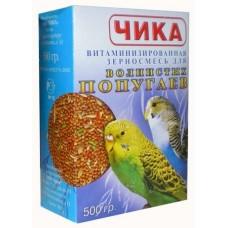 Чика Корм для волнистых попугаев витаминиз.зерносмесь б/м 500гр. (15286)