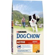 Dog Chow сухой корм для активных собак c курицей (Adult Active)