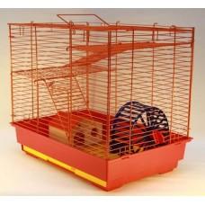 Yami-Yami Vip-клетка №2 для грызунов, 41*30*37см, 2этажа, домик, колесо (14см), миска (6см) (4042) (P31175)