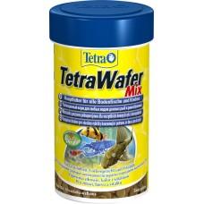 Tetra WaferMix Корм для травоядных, хищных и донных рыб с добавлением креветок, пластинки