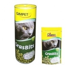 Gimpet витамины для кошек таблетки GrasBits с травой, 85 таб. (407630)