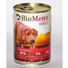 Био Меню консервы для собак Говядина