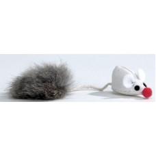"""Beeztees 425430 Набор игрушек для кошек """"Мышь с меховым хвостом"""" 6см (блистер) (C25882)"""