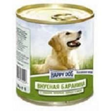 Хэппи Дог консервы для собак баранина, сердце, печень и рубец, 750гр. (10138)
