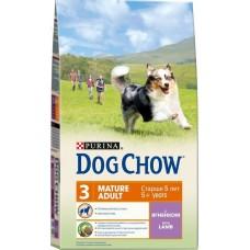 Dog Chow сухой корм для собак старше 5 лет с ягненком (Mature Adult)