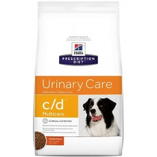 Hill's Prescription Diet C/D Canine при заболеваниях мочевыводящих путей у собак, вызываемых струвитами