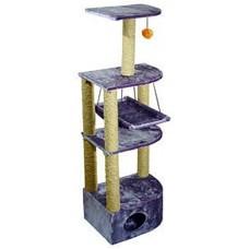 Дарэлл 8204с Домик-когтеточка 4-х уровневый угловой с гамаком, сизаль 36*49*170см