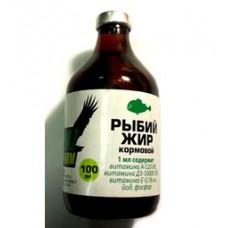Рыбий жир 100 мл. с витаминами для животных и птиц (35054)