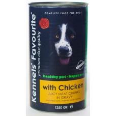 Kennels` Favourite Canned Dog Food Chicken консервы для собак мясные кусочки в соусе КУРИЦА 1250 gr