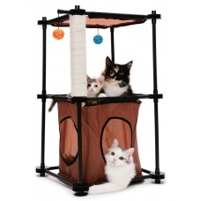 """Kitty City Игровой комплекс с когтеточкой для кошек: Биг Бен. """"Tower"""": 79*45*45см, сизаль (sp0301) (23057)"""