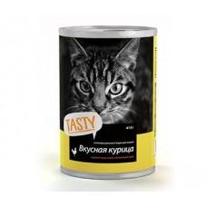 Tasty Консервы для кошек Вкусная курица 415г (P25334)