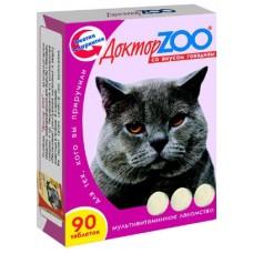 Доктор ЗОО мультивитаминное лакомство для кошек, 90 таб.