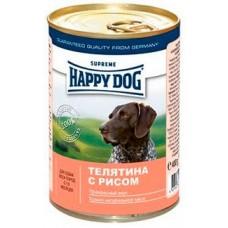 Хэппи Дог консервы для собак - Телятина и рис, 400гр. (10170)