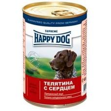 Хэппи Дог консервы для собак - Телятина с сердцем, 400гр. (10171)