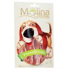Молина Лакомство для собак Утиная грудка, 80г. (70733)