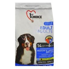1st Choice ADULT MEDIUM & LARGE BREEDS для взрослых собак средних и крупных собак 15кг (P12252)