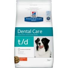 Hill's Prescription Diet Canine T/D лечение заболеваний полости рта, 3кг (C99883)