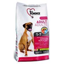 1st Choice SENIOR SENSITIVE SKIN&COAT для пожилых собак чувствительная кожа/шерсть с ягненком и рыбой 12кг (P12246)