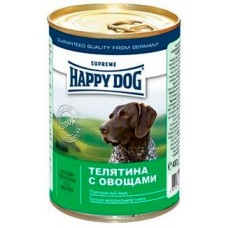 Хэппи Дог консервы для собак - Телятина и овощи, 400гр. (10169)