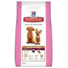 Hill's Science Plan ADULT SMALL & MINI корм для собак мелких и миниатюрных пород от 1 до 6 лет с ягненком