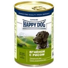 Хэппи Дог консервы для собак - Ягненок и рис, 400гр. (10167)