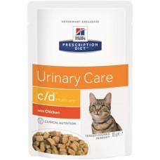 Hill's Prescription Diet C/D MULTICARE для кошек Диета при урологическом синдроме с Курицей, пауч 85г (C25102)