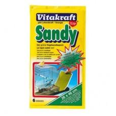 Витакрафт Sandy Песочное дно-подстилка для птиц, 24,5*40см*8шт. (11034)