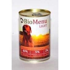 Био Меню Лайт консервы для собак Индейка с коричневым рисом